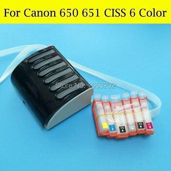 6 Color sistema CISS para Canon 650 651 PGI-650 XL CLI-651 XL...