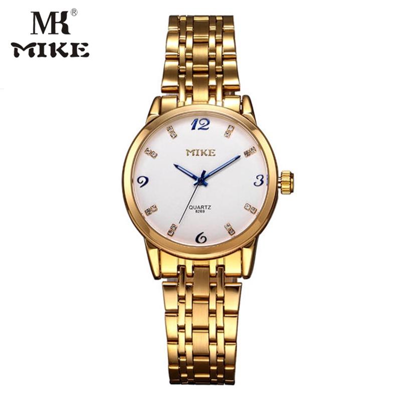 Mike Rose Gold Watch Woman Lovers Watch Men Watches Water Resistant Relojes Para Mujer Montre Homme Marque De Luxe Heren Horloge