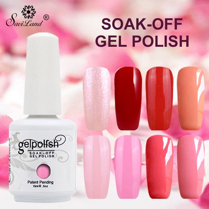 Saviland 15ml Shining Colors Gel Lak Gel polish Varnish Uv Led Nail Gel Polish Vernis Semi Permanent Need Top Base Coat
