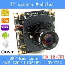 1/4 ' 720P Onvif 2.0 IP Camera 1280 * 720P HD upgrade IP Cam HI3518E + OV9732 1.0MP IR Outdoor ABS Platices CCTV Security System