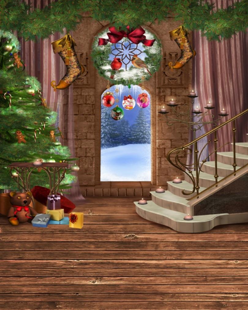 Christmas theme Photography Backdrops Vinyl Prop Photo Studio Background 5x7ft L833 200cm 300cm children theme vinyl backdrops for photography studio background prop jl 5801