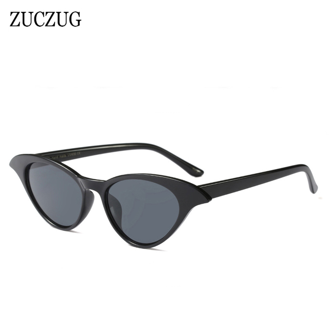 16e1069f699 ZUCZUG Luxury Vintage Cat Eye Sunglasses Women Brand Designer Sun Glasses  Retro Small Black Red Lens Ladies Eyewear Oculos