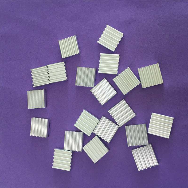 20Pc ST036Y 12*12*3MM Aluminum Heatsinks Chip Small Electronic Radiator Thermal Fin Heat Conduction Block High Quality On Sale 10pcs lot ultra small gvoove pure copper pure for ram memory ic chip heat sink 7 7 4mm electronic radiator 3m468mp thermal