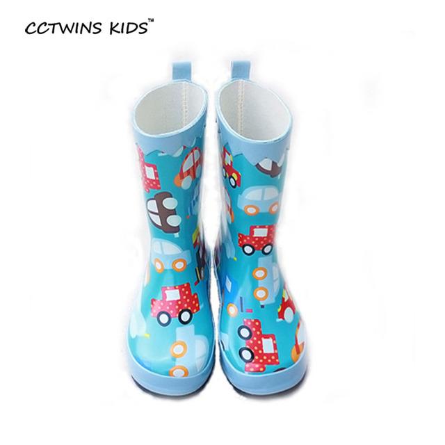 CCTWINS NIÑOS sping otoño boy marca de botas de agua para el bebé niños lluvia botas de moda a prueba de agua de goma de zapatos de color rosa