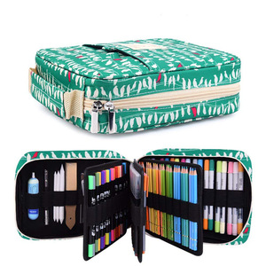 Image 1 - Korea Multifunction 150 Slot School Pencil Case & Bags Large Capacity Artist Canvas Pen Curtain Box Students Gifts Art Supplies