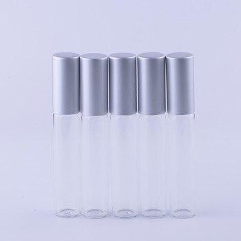 ¡Venta al por mayor! Botellas enrollables de Metal de alta calidad de 10 ml (300 unidades por lote), botella enrollable de cristal para aceites esenciales de 10 CC