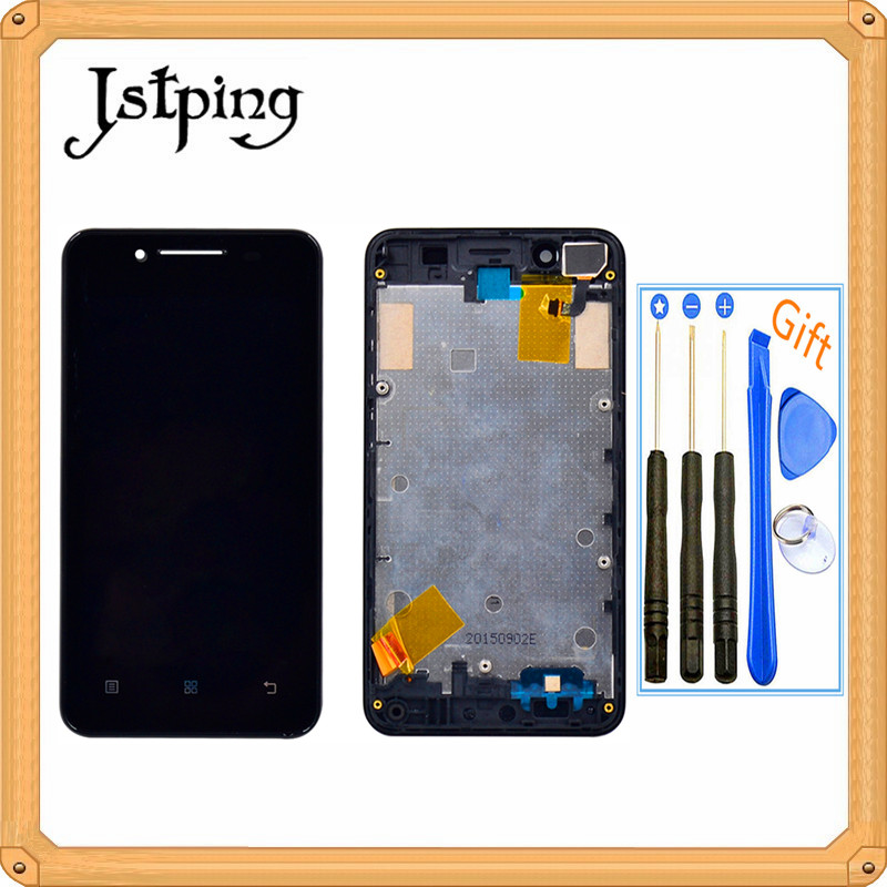 Jstping <font><b>4.5</b></font> <font><b>inch</b></font> Original Full <font><b>LCD</b></font> screen for Lenovo A319 display panel Assembly <font><b>with</b></font> frame <font><b>with</b></font> <font><b>touch</b></font> screen sensor digitizer image