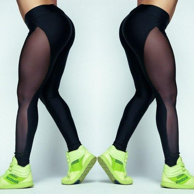 Leggings Women Net Yarn Pants Summer Women Workout Leggings Push-up Sporting Leggings Mesh Transparent Elastic Skinny Fitness