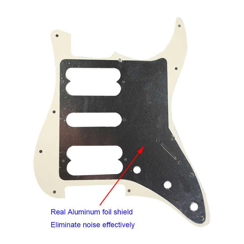 Piezas de guitarra Pleroo pickguards zurdos con 11 tornillos para fender Player Startocaster HSH Scratch Plate PLAYER pastillas de serie