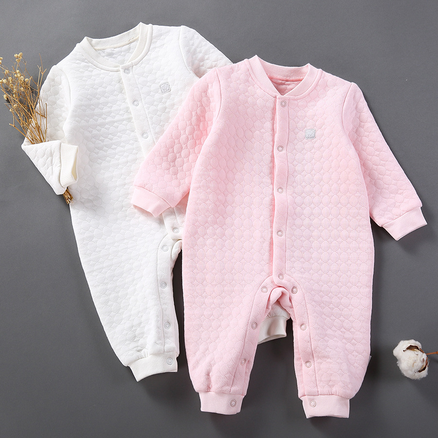 baby cotton sleeveless jumpsuit girls 2017 new spring autumn solid baby romper long sleeve cotton single breasted baby rompers warm thicken baby rompers long sleeve organic cotton autumn