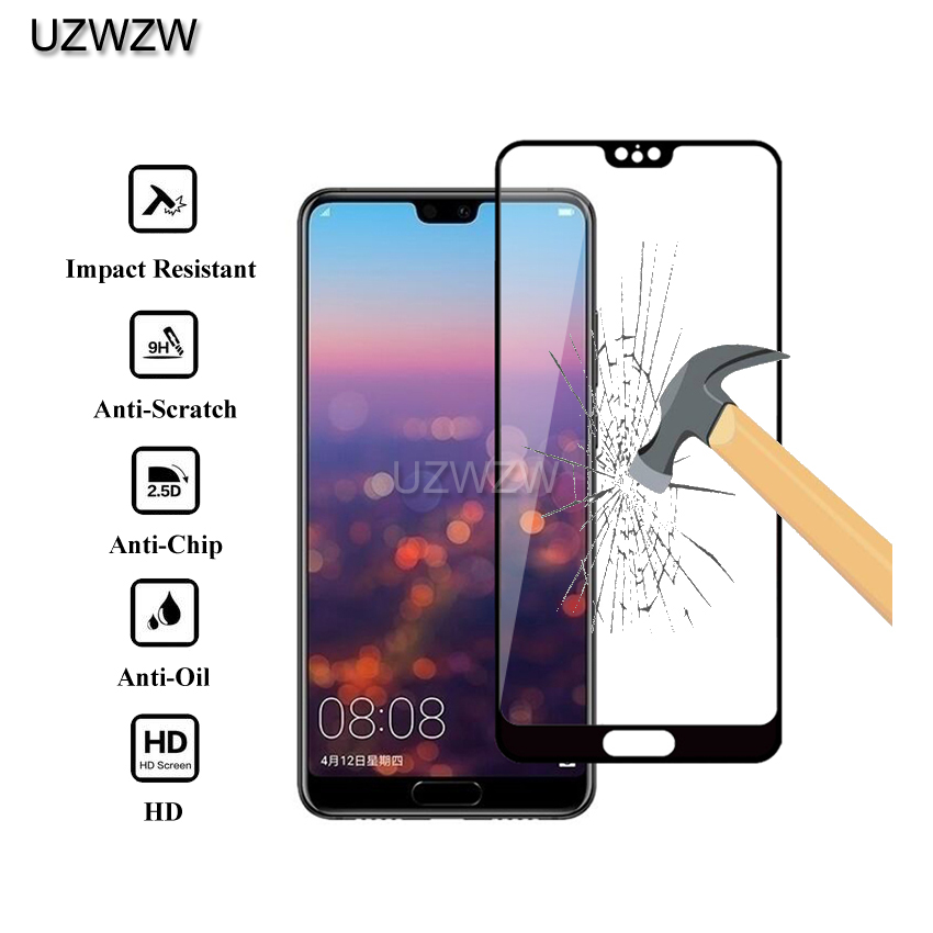 2pcs Full Cover 2.5D Premium Tempered Glass For Huawei P20 / P20 Lite / P20 Pro Protective Glass  Screen Protector