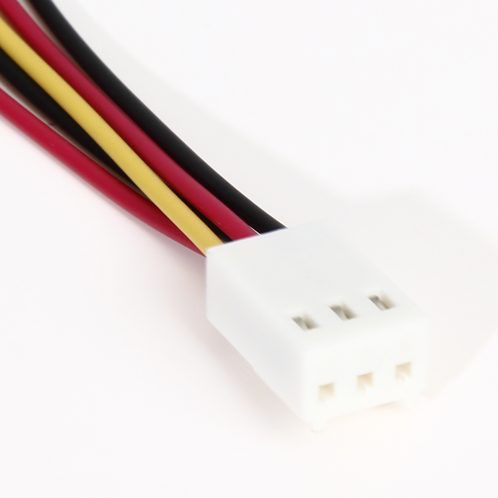 New 5Pcs Fan Connector Cable 12V 3 Pin Female To 2/3 Pin Male PC Fan Power Splitter Extension Cable High Quality Wholesale