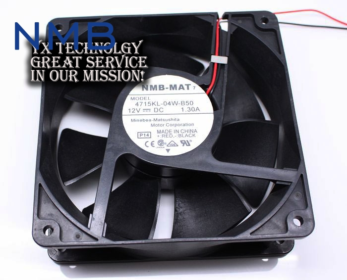 New and Original 12cm 4715KL-04W-B50 12038 1.3A double row ball bearing cooling fan for NMB 120*120*38mm original delta ffb1224she 12cm 120mm 12038 120 120 38mm 24v 1 20a cooling fan