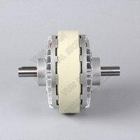 6Nm 0 6 kg DC 24 V Doppel welle Dual 2 Achse Magnetische Pulver Kupplung wicklung Bremse Für Spannung control Tasche druck Färben maschine-in Magnetpulverbremse aus Werkzeug bei