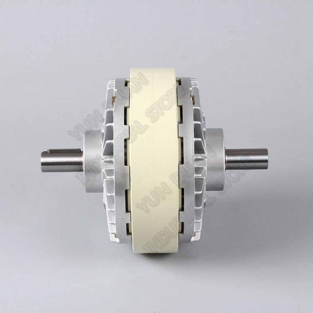 6Nm 0.6kg DC 24V Double shaft Dual 2 Axle Magnetic Powder Clutch winding Brake For Tension control Bag Printing Dyeing machine6Nm 0.6kg DC 24V Double shaft Dual 2 Axle Magnetic Powder Clutch winding Brake For Tension control Bag Printing Dyeing machine