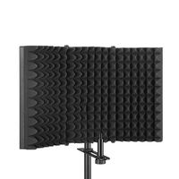 Microphone Isolation Shield Acoustic Recording Sound Absorber Foam Panel Mic Accssories for Podcast Studio Microphone