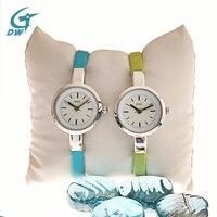 DWG Brand Luxury Watch Women Small Quartz Watch Leather Strap Fashion Ladies Bracelet Watches Women Wathes