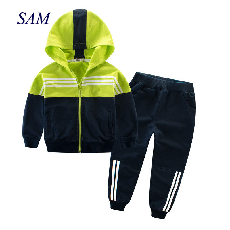 Children Clothing Sports Suit For Boys And Girls Hooded Outwears Long Sleeve Boys Clothing Set Casual Tracksuit