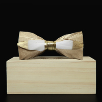 High quality Golden Feather bow tie Accessory ties for men wedding party business butterfly neckties bow ties cravate luxe homme