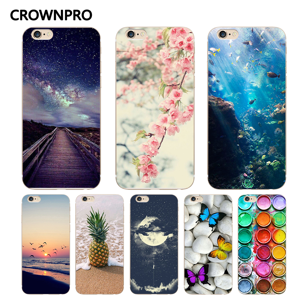 CROWNPRO FOR Coque iPhone 5 5S SE 6 6S 7 8 Plus X Case Cover FOR Fundas iPhone 6S Case sFOR iPhone 6 Case sFOR iPhone 5S Case