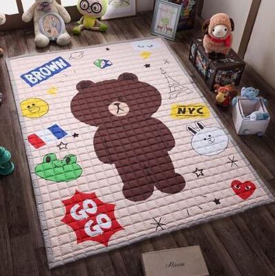Bande dessinée 3 CM epais salon tapis INS mode bébé jouer tapis épaississement de pliage 150X200 Cm le jeu couverture chambre tapis