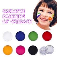 Профессиональные краски для лица и тела, водостойкие пигменты, белые, черные, красные, синие, брендовые, безопасные, для детской вечеринки