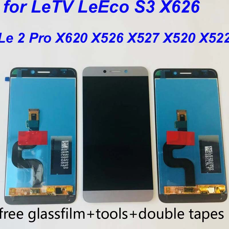US $16 8 20% OFF|ORIGINAL Le2 X527 X520 X522 For LeTV LeEco Le 2 Display  LCD Touch Screen for LeEco S3 X626 LCD Display Le 2 Pro X620 X526 Gray-in