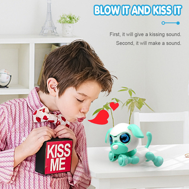 Robot toy dog UInteractive Smart Puppy Robotic Dog LED Eyes Sound Recording Sing Sleep Cute action figure Education D301212 4
