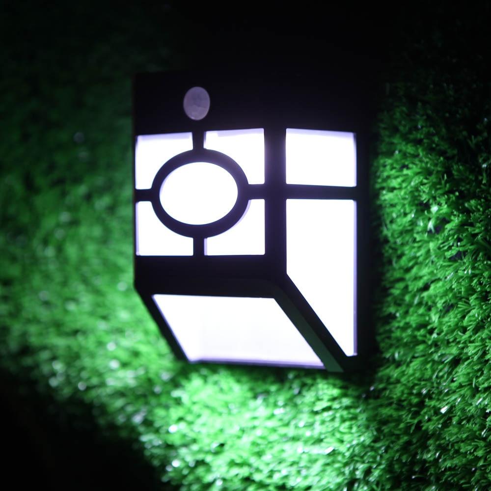 4Pcs Solar Wall Lamp Panel PIR Motion <font><b>Light</b></font> With Rechargeable Mounted Outdoor Garden Pathway Garage Stairways Sensor Wall <font><b>Light</b></font>