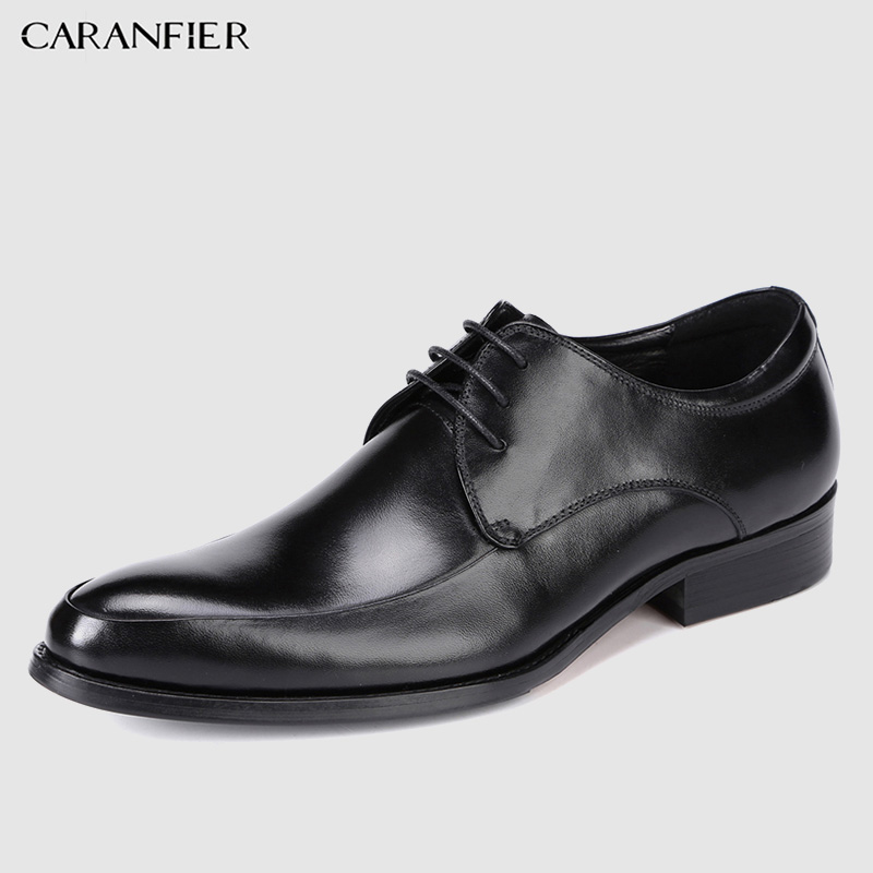 CARANFIER Mens Business Dress Shoes Genuine Leather Solid Luxury Breathable Pointed Toe Oxford Shoe Plus Size 37-46 2019CARANFIER Mens Business Dress Shoes Genuine Leather Solid Luxury Breathable Pointed Toe Oxford Shoe Plus Size 37-46 2019