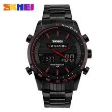 Relojes de Los Hombres SKMEI 1131 Reloj de Cuarzo de Acero Llena de Marcas de Lujo Reloj LLEVADO Digital Del Reloj Del Deporte Militar Del Ejército del relogio masculino