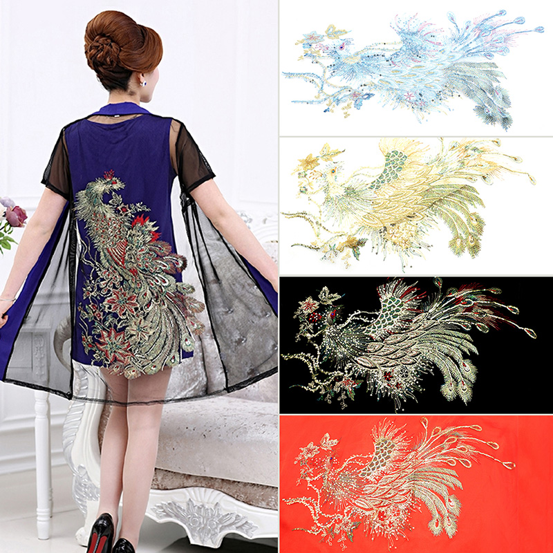 Pc diy lace sequins embroidered patches for clothes