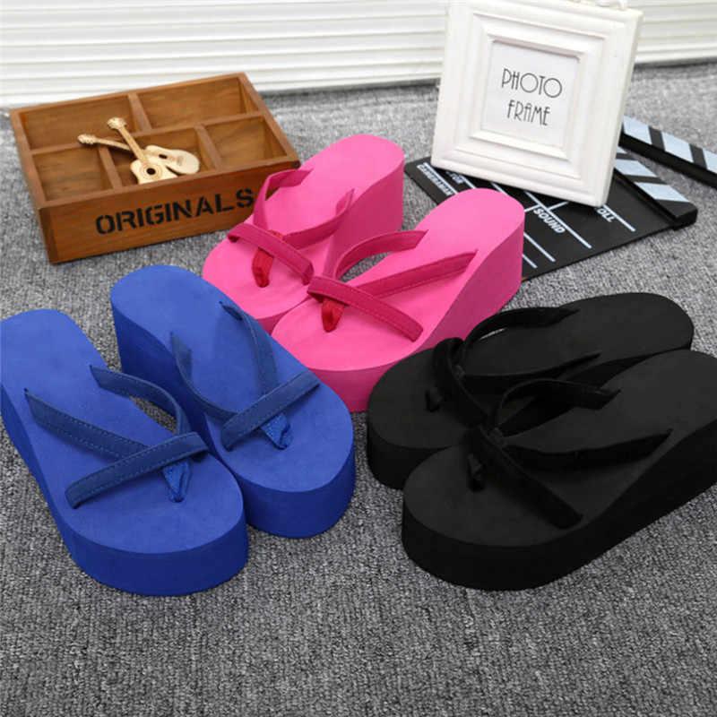 3e5cecd3b7bef1 Summer Sandals Wedges Women Slip Flip Flops Beach Sandals Shoes Fashionable  Casual Sandals Female Ladies Shoes