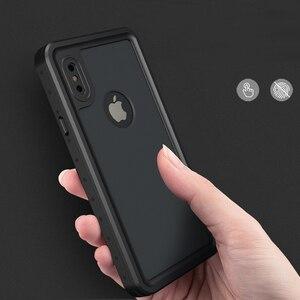 Image 2 - 100% wasserdicht Fall für iPhone X XS 7 8 Plus Stoßfest Schwimmen Tauchen Abdeckung für iPhoneX Unterwasser Schutzhülle 7p 8 p Coque