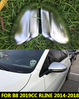 For Volkswagen Passat Magotan B8 VW CC 2019 Rline Chrome brushed Side Wing Mirror Cover Caps Silver Matte 2015 2016 2017 2019