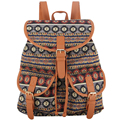 Sansarya New 2017 Women Vintage Retro Bohemia Printing Jacquard Backpack Mochila Escolar Feminina Bagpack Rucksack Back pack