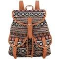 Sansarya novo 2017 das mulheres do vintage retro bohemia impressão jacquard mochila mochila escolar feminina bagpack mochila back pack