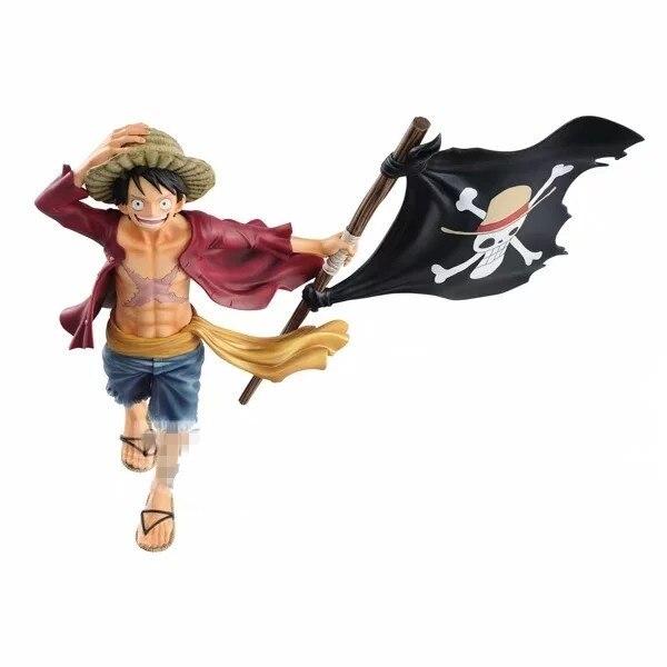 Аниме фигурка Луффи с пиратским флагом Ван Пис 22 см