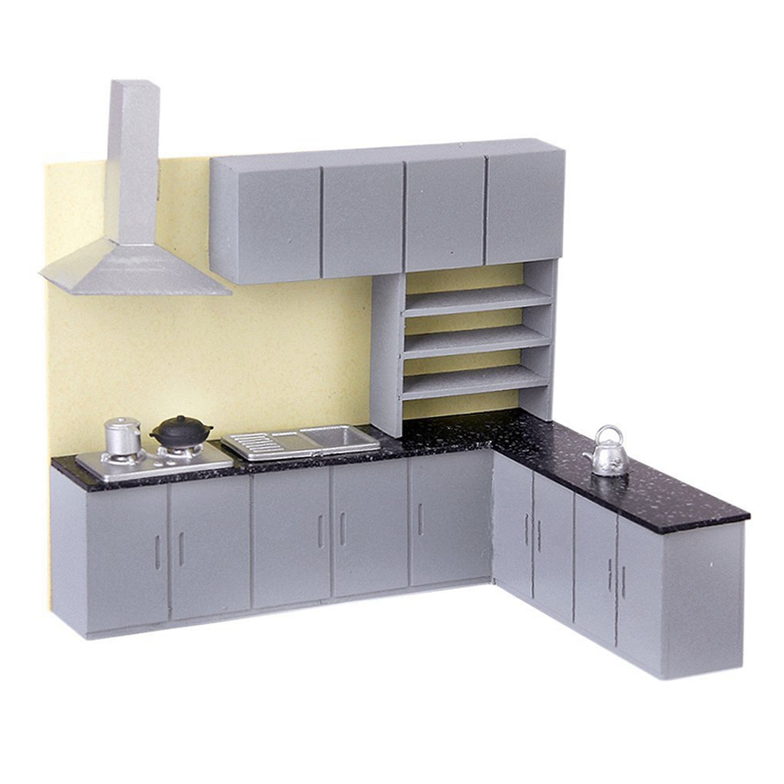 US $9.74 31% OFF|Simulation Kitchen Cabinet Set Model Kit Furniture 1:25  Dollhouse furniture-in Furniture Toys from Toys & Hobbies on AliExpress