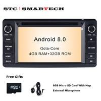 SMARTECH 2din Android 8,0 4 ГБ ОЗУ 32 ГБ rom автомобильный dvd плеер gps навигация Авторадио для MITSUBISHI OUTLANDER с CAN BUS Декодер