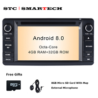 SMARTECH 2din Android 8.0 4GB RAM 32GB ROM car dvd player gps navigation autoradio for MITSUBISHI OUTLANDER with CAN BUS decoder