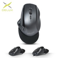 Delux M910 wired Optical Ergonomic Gaming Mouse 9 Buttons 4000 DPI USB wireless Mice with Wrist mat For PC Game Player Laptop
