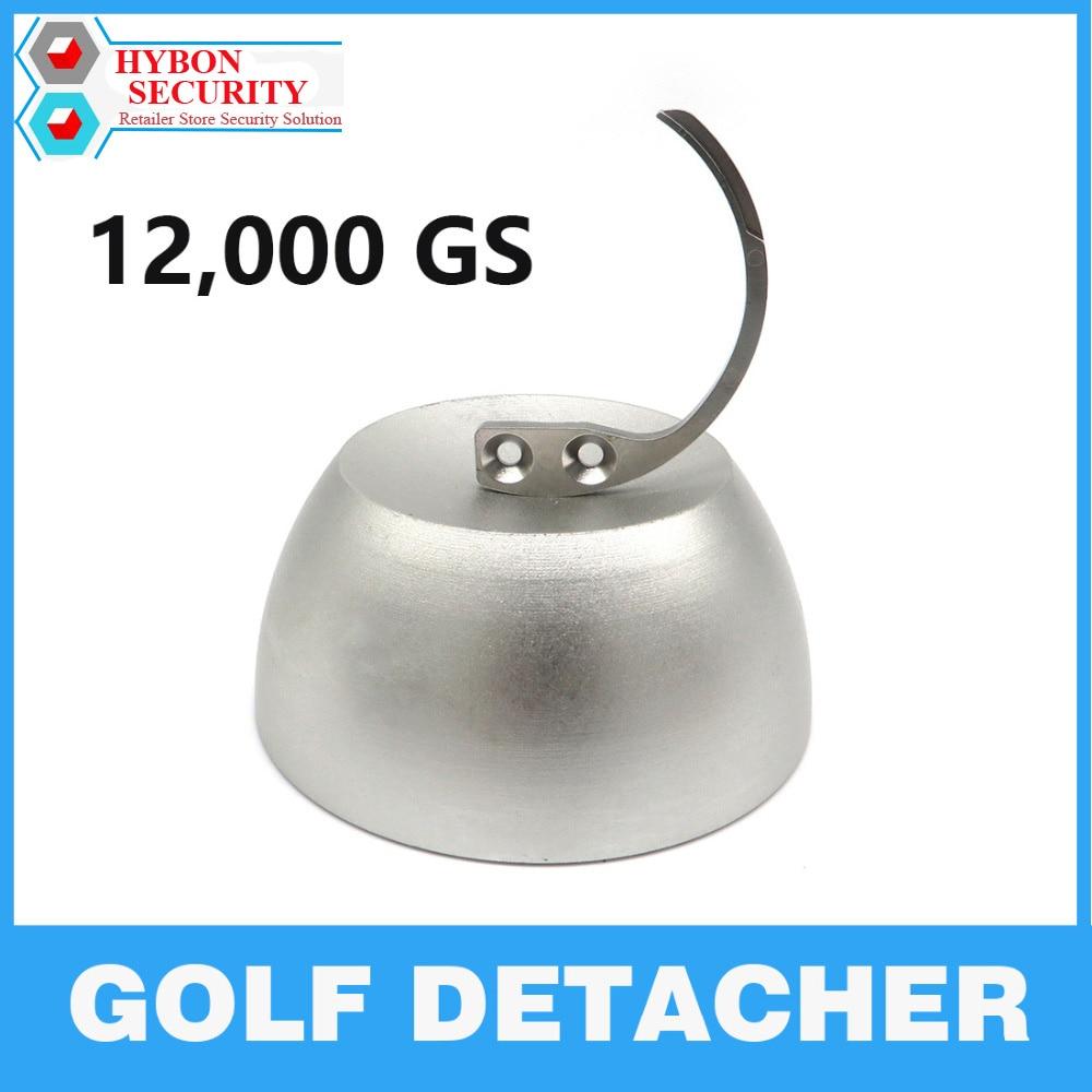 HYBON 1Pcs Security Tag Detacher 12000gs Golf Detacher  + 1Pcs Detacher Hook Key Hard Tags llavero EAS Security Tag Remover