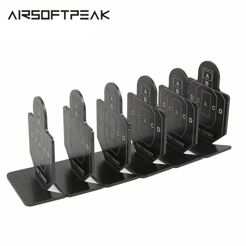 6 Pcs FMA Outdoor Metal Airsoft Tactical Hunting Shooting Target Set Durable Archery Kit Useful Target Practice Shoot Accessory