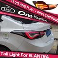 АКД Стайлинга Автомобилей Задний Фонарь для Hyundai Elantra Задний Фонарь СВЕТОДИОДНЫЙ задний фонарь СВЕТОДИОДНЫЙ DRL Стояночный тормоз Поворотник стоп-сигнал Лампа Руководство
