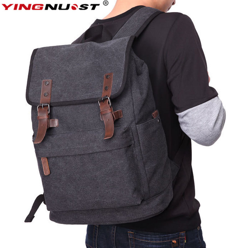 YINGNUOST F02 Retro Ultra-Capacity Canvas Camera Bag Black 45x37x20 cm Photography Outdoor Casual Backpack For DSLR Laptop yingnuost f04 multi functional dslr slr camera bag canvas case shoulders backpack 43x33x16 cm