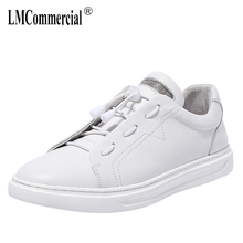 цены High Quality Genuine Leather Shoes men all-match cowhide breathable sneaker fashion mens casual shoes Leisure shoes male spring
