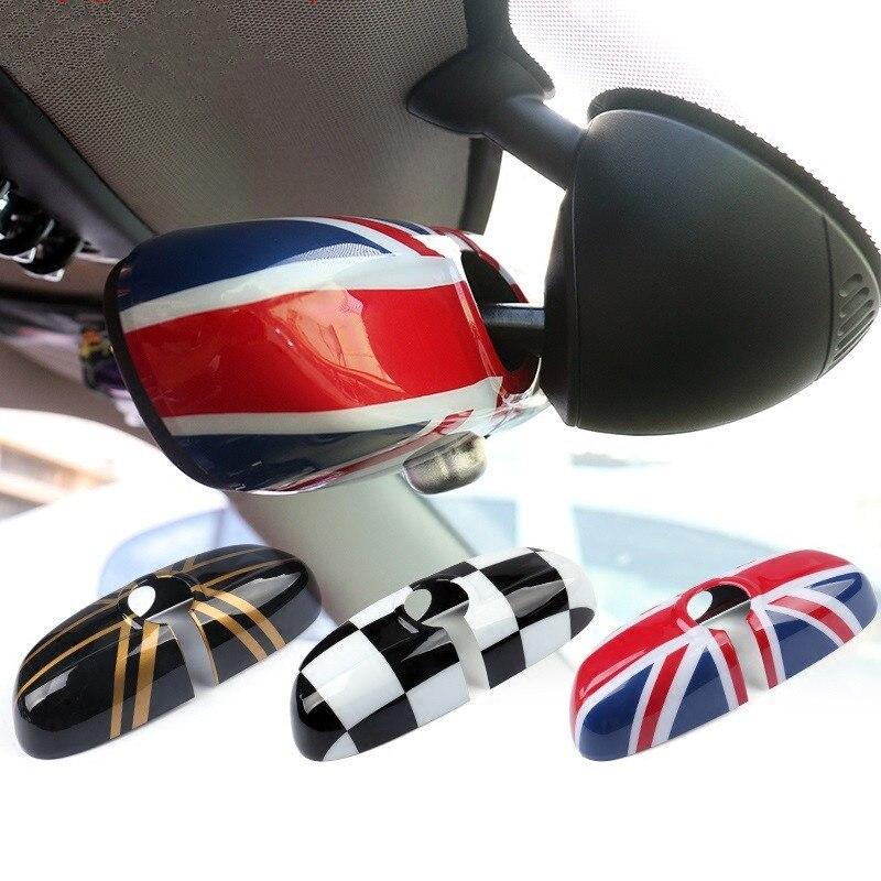 Rétroviseurs de voiture housse de boîtier autocollant décor voiture-style pour BMW MINI Cooper F55 F56 2014 2015 Version basse moyenne