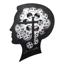 Design Gear Clock ABS!Metal Wall Clock Quartz Movement Gear Clock Individuality Creative Household & Furnishing decoration