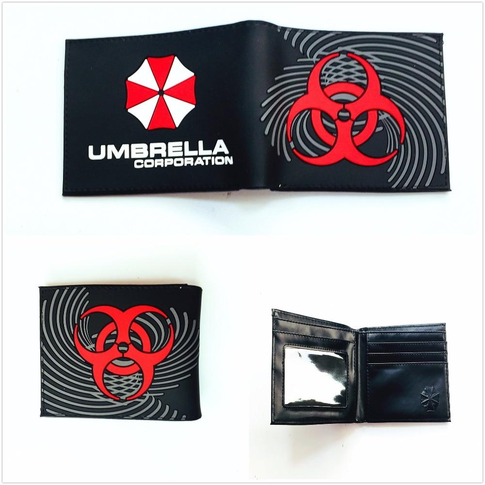 New Arrival Short Men Wallet Purses Umbrella Corporation Wallet Leather Money Bag Clip Cards Holder Game Wallet W1004Q все цены